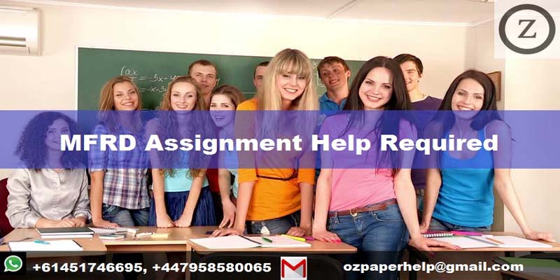 MFRD Assignment Help Required