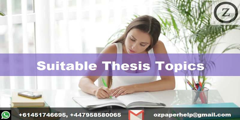 Suitable Thesis Topics
