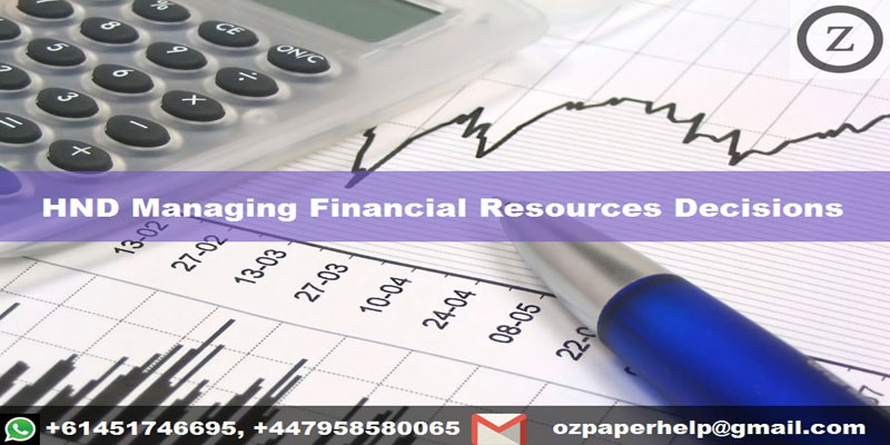 HND Managing Financial Resources Decisions