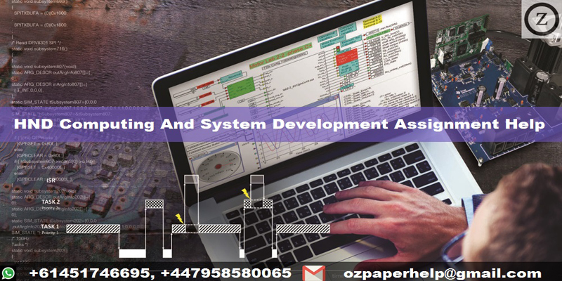 HND Computing And System Development Assignment Help