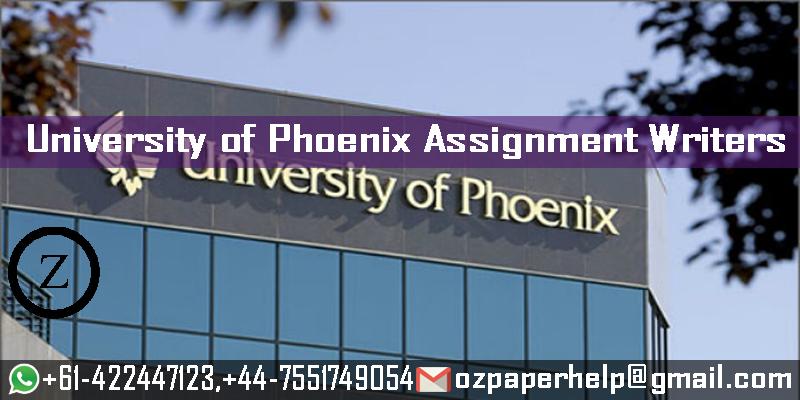 University of Phoenix Assignment Writers