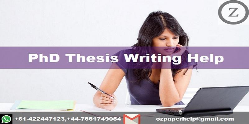 PhD Thesis Writing Help