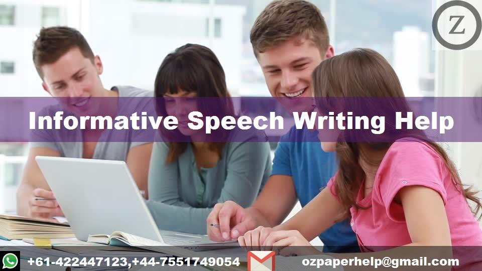 Informative Speech Writing Help