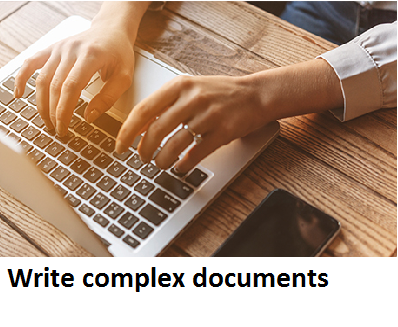 BSBWRT401 Write complex documents