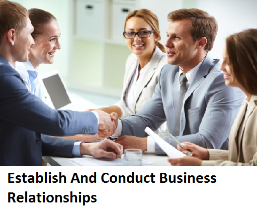 SITXMGT002 Establish And Conduct Business Relationships