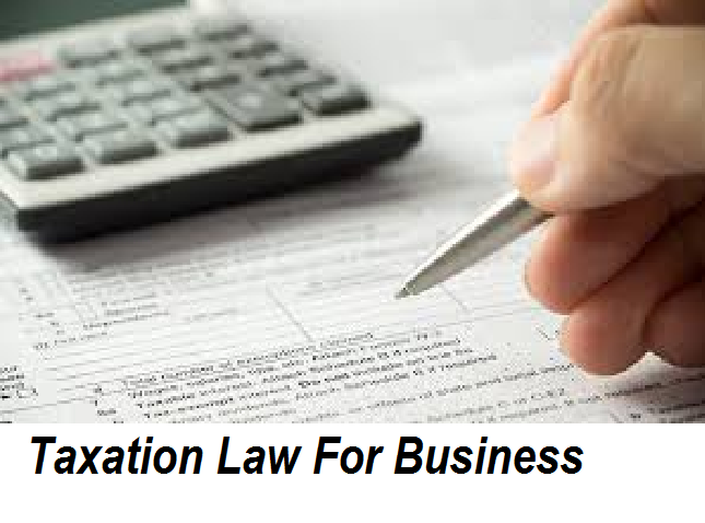 Taxation Law For Business