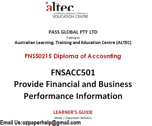 FNS50215 Diploma of Accounting