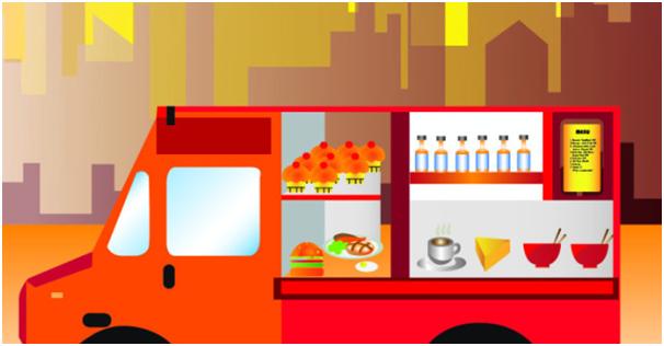 Food Truck Sells food in festival