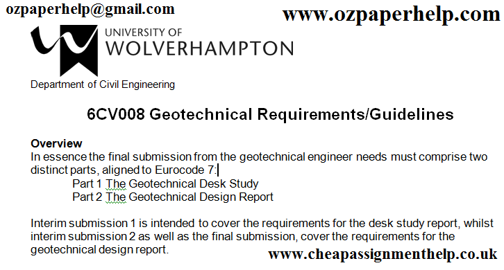 6CV008 Geotechnical Requirements
