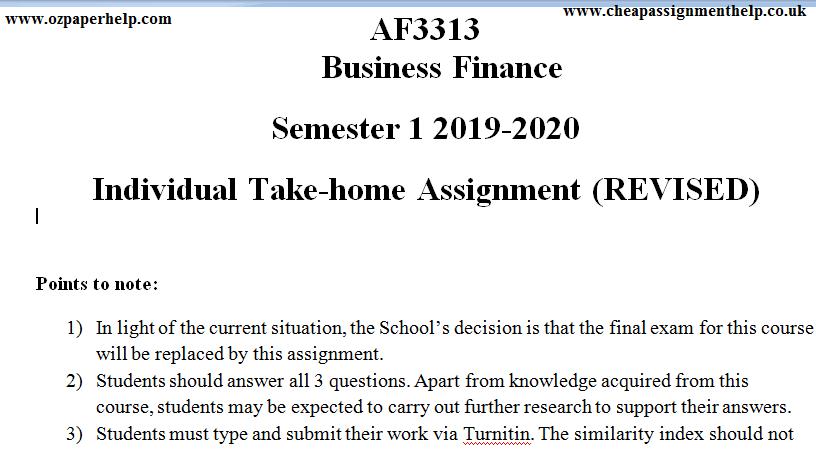 AF3313 Business Finance