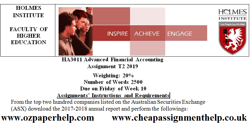 HA3011 Advanced Financial Accounting