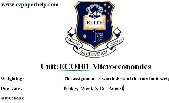 ECO101 Microeconomics