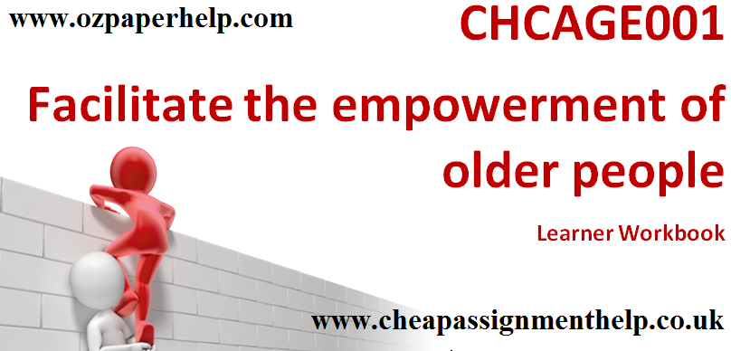 CHCAGE001 Facilitate the empowerment