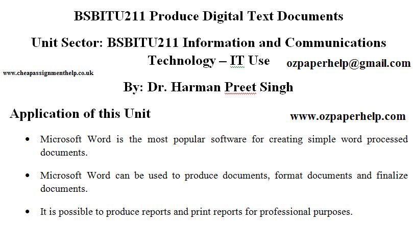 BSBITU211 Information and Communications