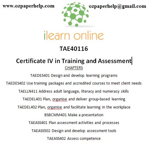 TAE40116 Certificate IV in Training