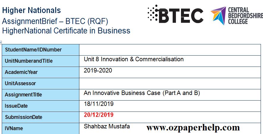 Unit 8 Innovation & Commercialisation