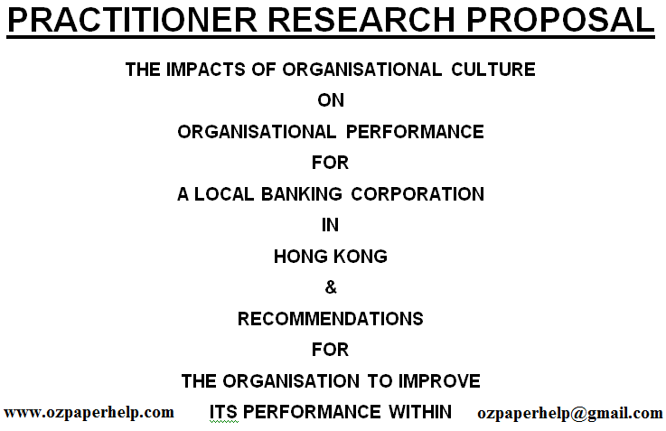 PRACTITIONER RESEARCH PROPOSAL