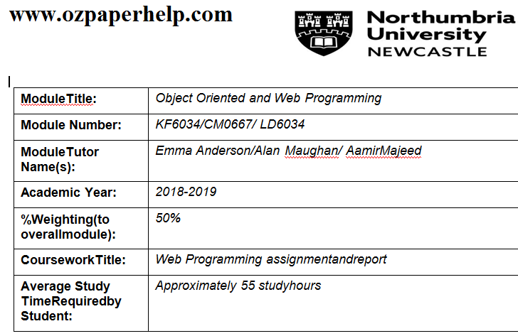 Object Oriented and Web Programming