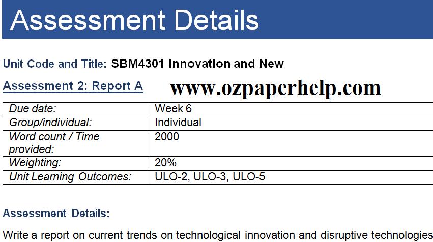 SBM4301 Innovation