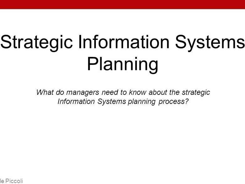 HI5019 Strategic Information Systems for Business and Enterprise