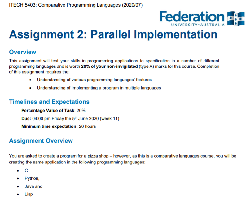 Comparative Programming Assignment Help