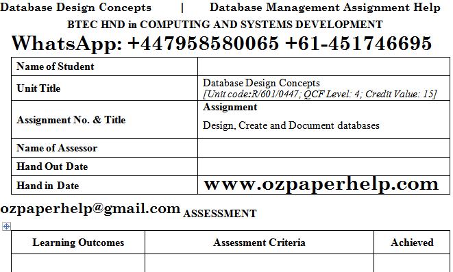 Database Design Concepts