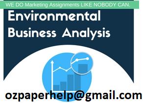 Marketing Environment Analysis Assignment
