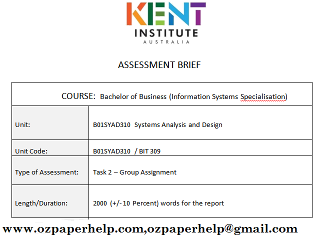 B01SYAD310 Systems Analysis and Design