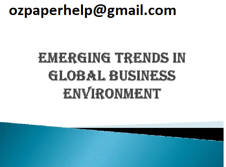 Trends in Global Business Environment