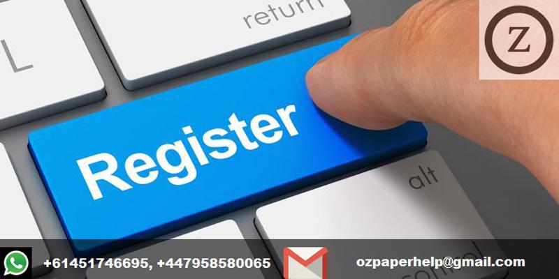 Project registration form