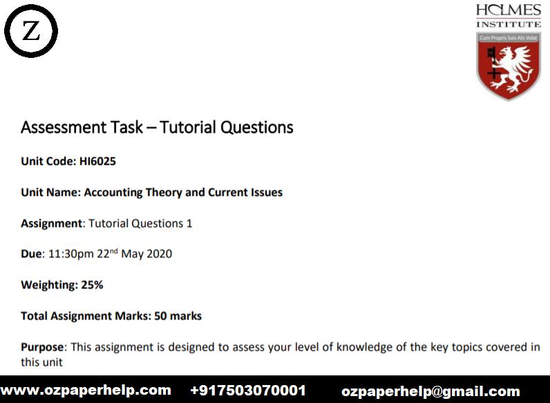 HI6025 Accounting Assignment Help Australia