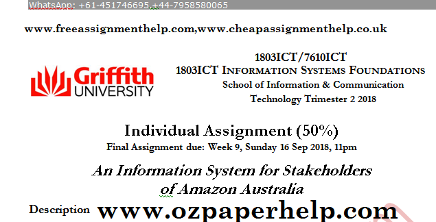 1803ICT INFORMATION SYSTEMS FOUNDATIONS