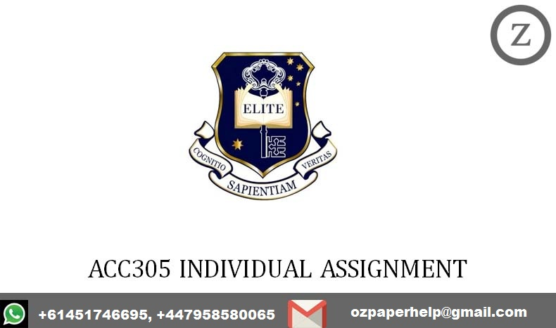 ACC305 INDIVIDUAL ASSIGNMENT