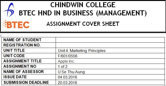 Unit 4 Marketing Principles