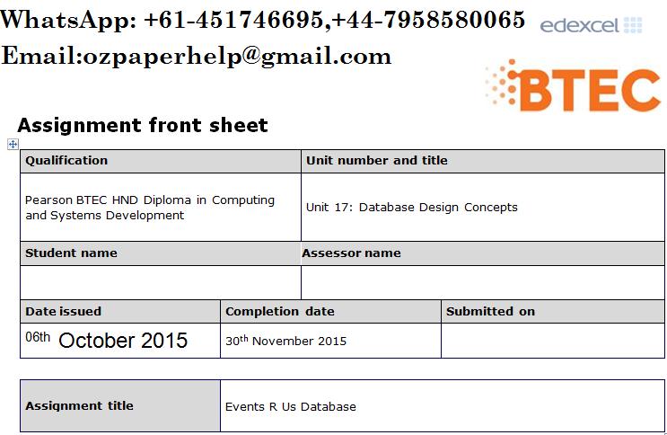 Unit 17 Database Design Concepts