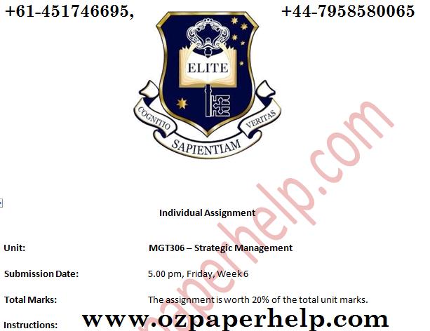 MGT306 Strategic Management