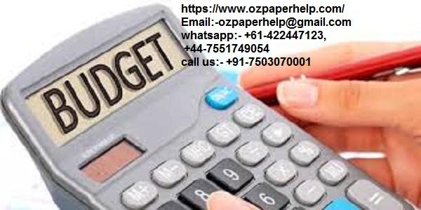 Budgeting finance help