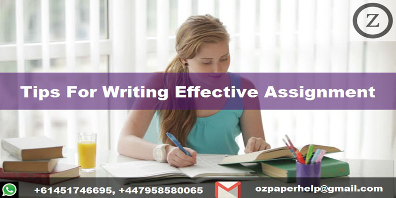 Tips For Writing Effective Assignment