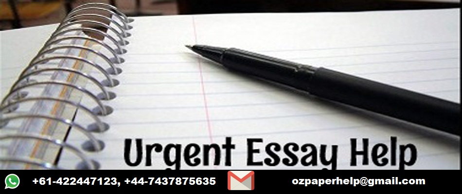 Urgent Essay Writing