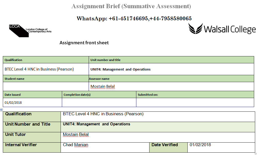 UNIT4 Management And Operations