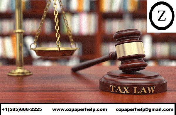 Taxation Law Solution Assignment Help