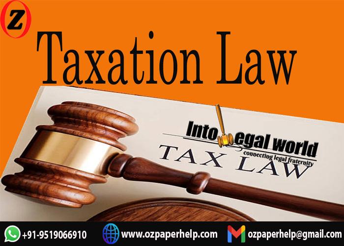 Taxation Law Assignment Help Australia