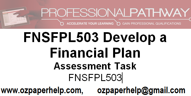 FNSFPL503 Develop a Financial Plan