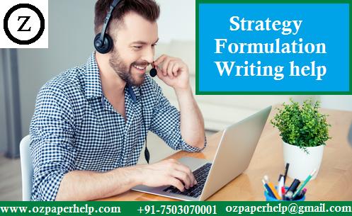 Strategy Formulation Writing help