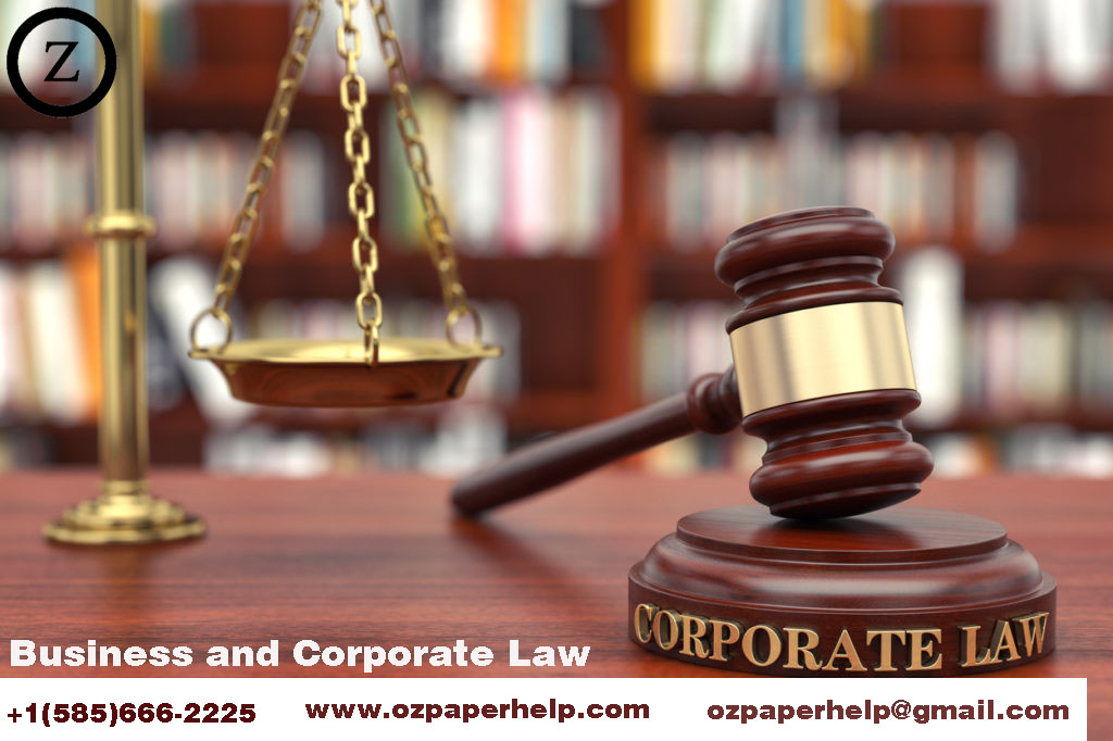 Business and Corporate Law Assignment Law