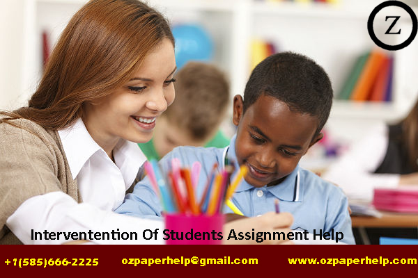 Interventention Of Students Assignment Help